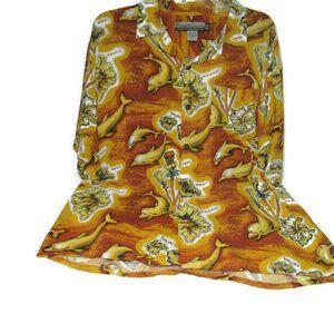 VTG Hawaiian Shirt Pineapple Connection M
